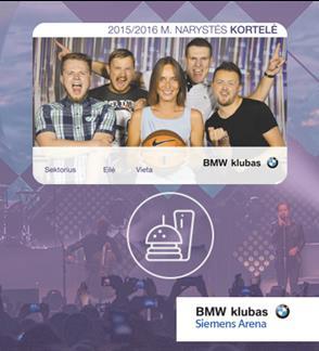2015/2016 sezono BMW klubo narystės maisto paketai
