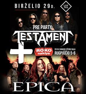 "Festivalis ""Roko naktys 2016"" + kempingas + Roko Naktys Pre-Party: Testament (US)"