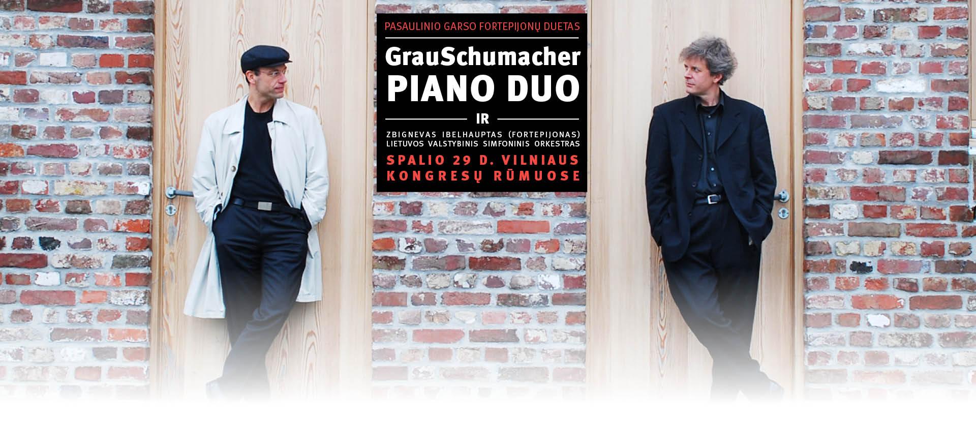 LVSO ir pasaulinio garso pianistų duetas GRAU & SCHUMACHER