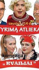 """""""Tyrimą atlieka kvaikiai"""" komedija (Maskvos kino ir teatro žvaigždės.)"""