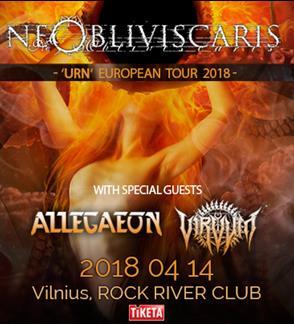 NE OBLIVISCARIS - Urn European Tour 2018 + special guests