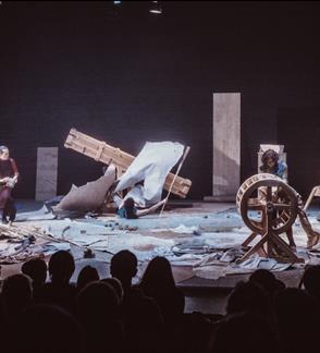 """7-asis šiuolaikinės operos festivalis NOA. Barokinio teatro triukšmų mašinų performansas """"Blogi orai"""""""