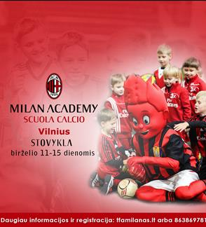Milan Academy Vilnius stovykla