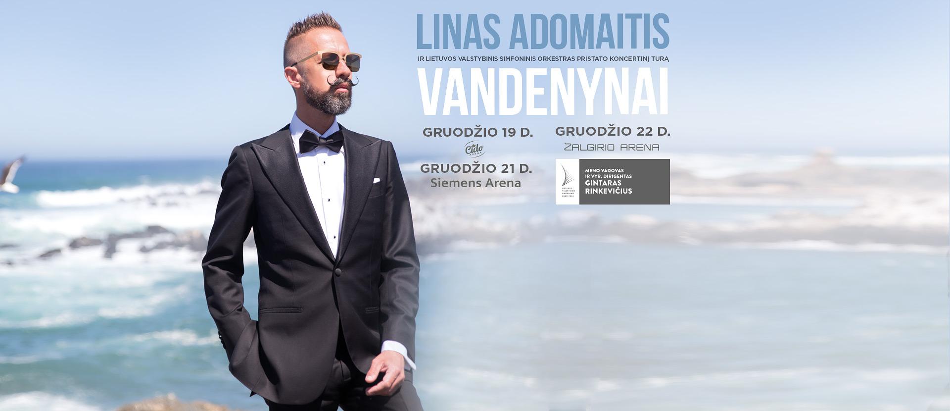 """Linas Adomaitis ir LVSO. Koncertinis turas """"Vandenynai"""""""