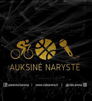 """2018/2019 metų sezono """"Cido"""" arenos """"Auksinė"""" narystė"""