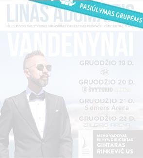 """Pasiūlymai grupėms: Linas Adomaitis ir LVSO. Koncertinis turas """"Vandenynai"""""""