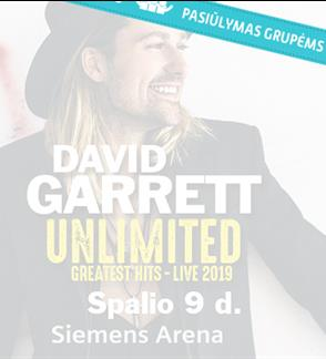 Pasiūlymai grupėms: DAVID GARRETT UNLIMITED - GREATEST HITS - LIVE 2019