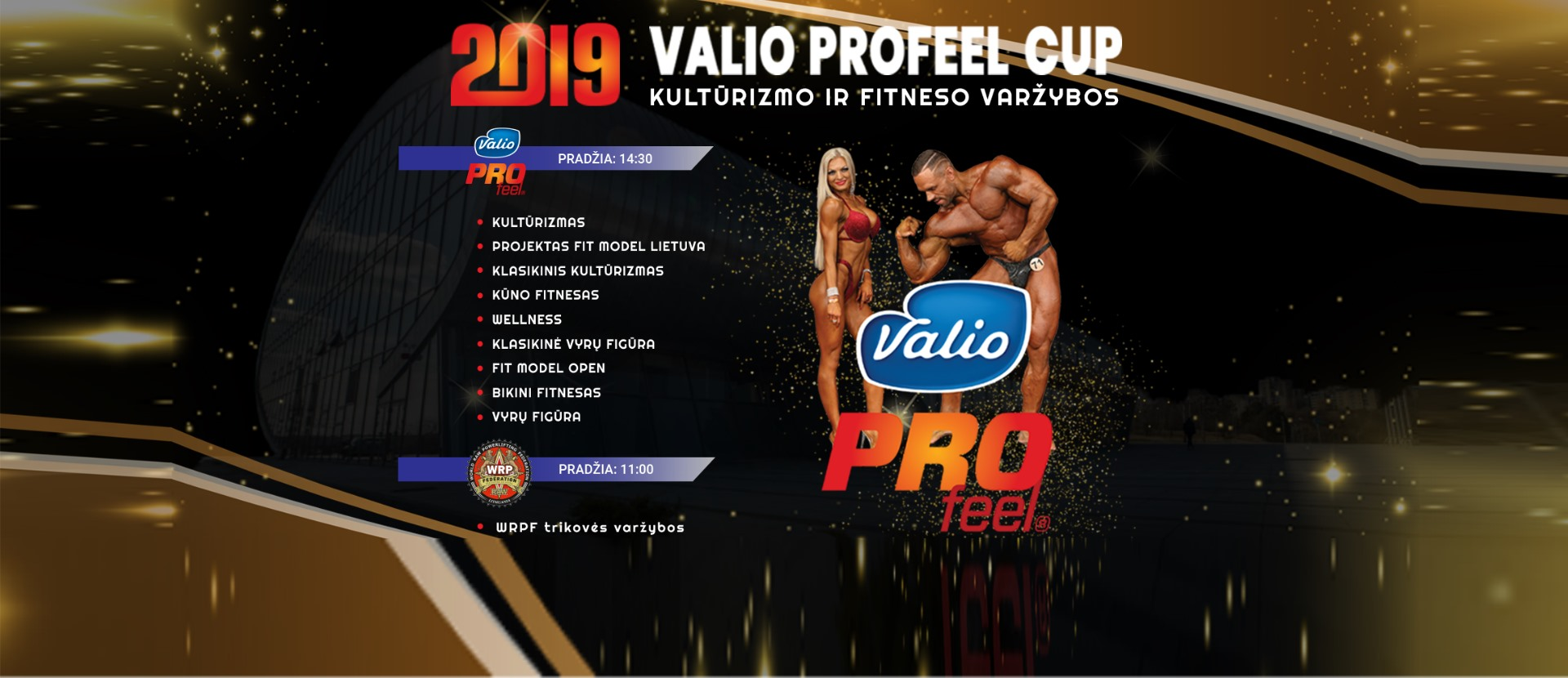 Bodybuilding competition Valio ProFeel Cup 2019& WRPF LT
