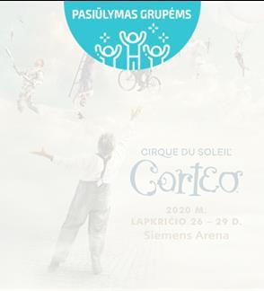 Pasiūlymai grupėms: CIRQUE DU SOLEIL - CORTEO