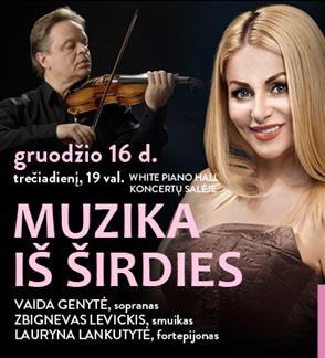 """Festivalis """"Pavasaris White Piano Hall"""". MUZIKA IŠ ŠIRDIES / Genytė / Levickis / Lankutytė"""