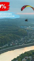 Mokomasis skrydis motorizuotu parasparniu Kaune
