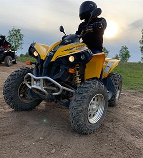 Keturračių motociklų safaris