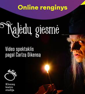 """ONLINE: Video spektaklis pagal Čarlzą Dikensą """"Kalėdų giesmė"""""""