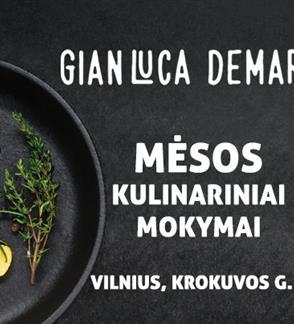 Mėsos gaminimo mokymai su Gian Luca Demarco